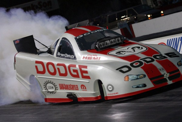 Dodge White Funny Car