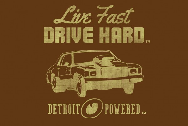 Tshirt Live Fast Detroit Powered Brown Thumb