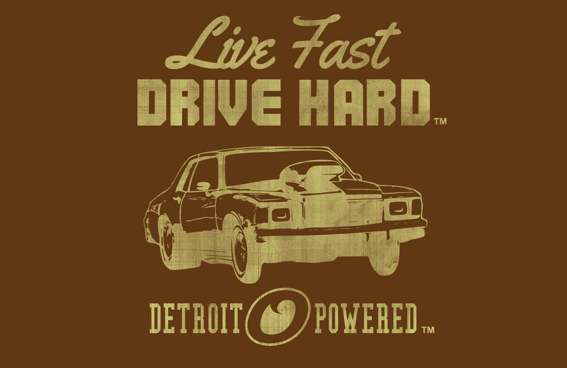 Tshirt Live Fast Detroit Powered Brown Thumb